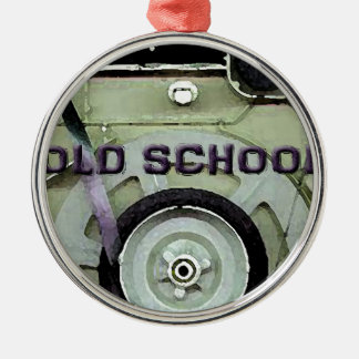 Old School Retro 8 Track Cassette Tape Silver-Colored Round Decoration