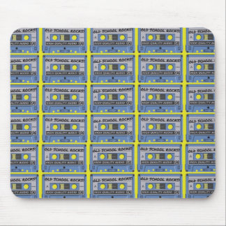 Old School Rocks Cassettes Mousepad