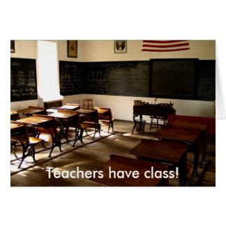 old school room Teachers have class Cards