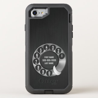 Old School Rotary Dial Phone OtterBox Defender iPhone 8/7 Case
