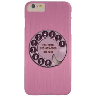 Old School Rotary Dial Phone Pink Barely There iPhone 6 Plus Case
