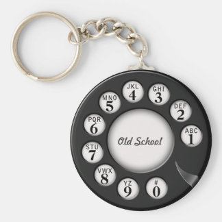 Old School Rotary Phone Dial Key Ring