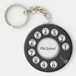 Old School Rotary Phone Dial Keychain