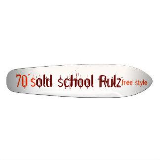 old school Rulz, free style, 70's 20 Cm Skateboard Deck