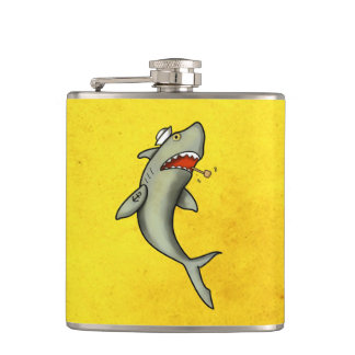 Old School Sailor Shark Hip Flask