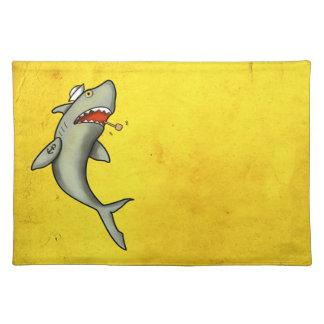 Old School Sailor Shark Placemat