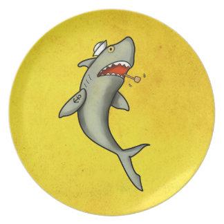 Old School Sailor Shark Plate