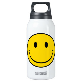 Old School Smiley Insulated Water Bottle