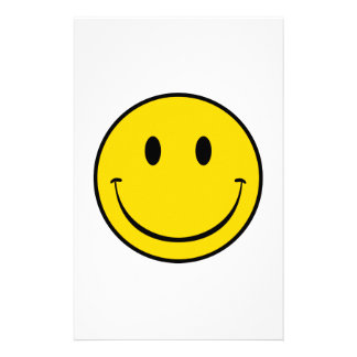 Old School Smiley Stationery Paper