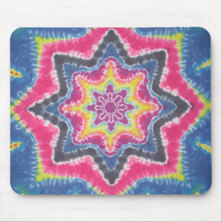 Old School Star Tie Dye Mouse Pads