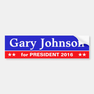 Old school sticker: Gary Johnson for President Bumper Sticker