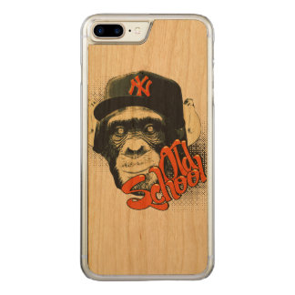 Old school swag monkey carved iPhone 8 plus/7 plus case
