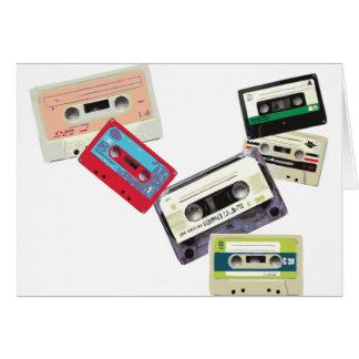 old school tape decks greeting cards