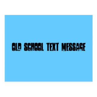 Old school text message postcard