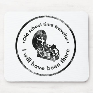 Old School time Traveller Mouse Pad