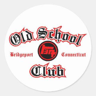 old school toyota club round sticker