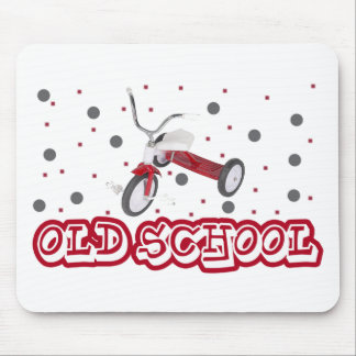 old school tricycle mouse pad