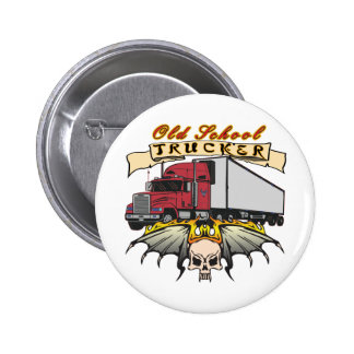Old School Truck Driver 6 Cm Round Badge