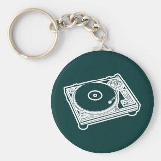 Old School Turntable Key Ring