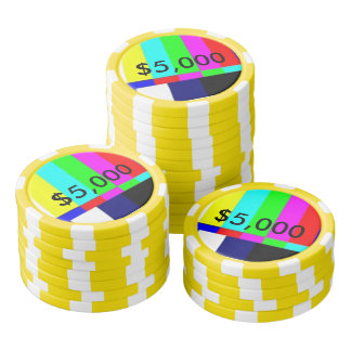 Old School TV Poker Playing chips $5,000 Poker Chips
