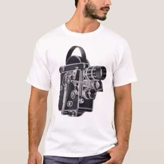Old School Vintage Video Camera blue womens tee