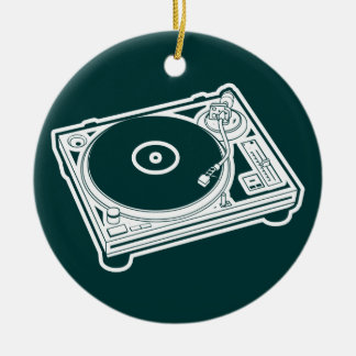 Old School Wax / Turntable Christmas Ornament