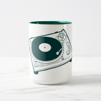 Old School Wax / Turntable Two-Tone Coffee Mug