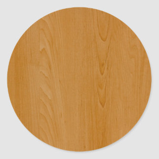Old School Wood Paneling Round Sticker