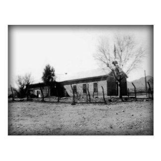 Old Schoolhouse 1885 (1933 photo) Postcard