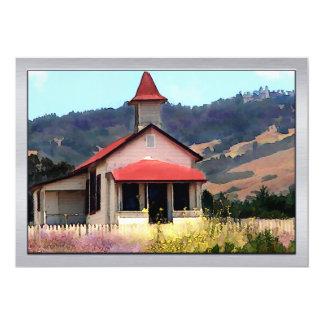 Old Schoolhouse Near San Simeon 13 Cm X 18 Cm Invitation Card