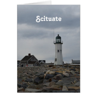 Old Scituate Lighthouse Card