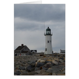 Old Scituate Lighthouse Greeting Card