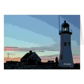 Old Scituate Lighthouse--invitation Greeting Cards