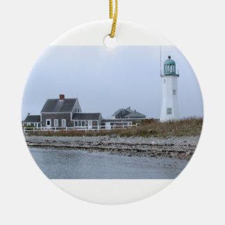 Old Scituate Lighthouse Massachusetts Christmas Ornament