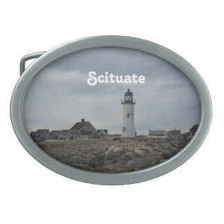 Old Scituate Lighthouse Oval Belt Buckle
