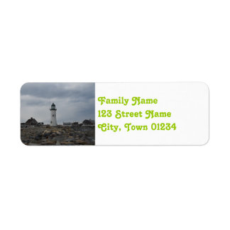Old Scituate Lighthouse Return Address Label