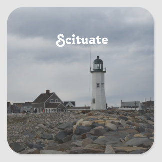 Old Scituate Lighthouse Square Sticker
