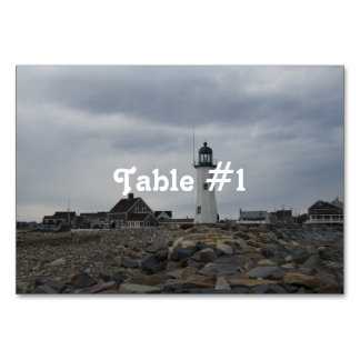 Old Scituate Lighthouse Table Cards