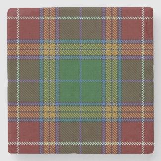Old Scots Tavern Clan Baxter Tartan Stone Coaster