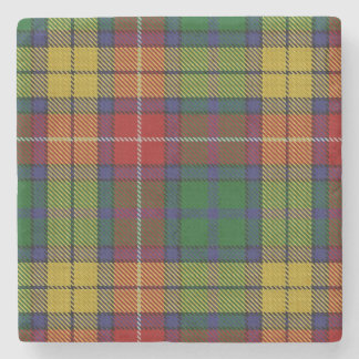 Old Scots Tavern Clan Buchanan Tartan Stone Coaster