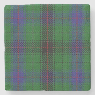 Old Scots Tavern Clan Davidson Tartan Stone Coaster