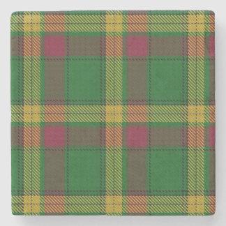 Old Scots Tavern Clan MacMillan Tartan Stone Coaster