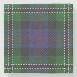 Old Scots Tavern Clan Rose Hunting Tartan Stone Coaster