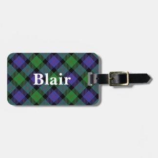 Old Scotsman Clan Blair Tartan Luggage Tag