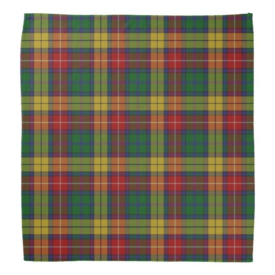 Old Scotsman Clan Buchanan Tartan Plaid Bandana