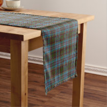 Old Scottish Clan Anderson Tartan Plaid Short Table Runner