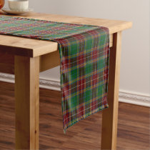 Old Scottish Clan Baxter Tartan Plaid Short Table Runner