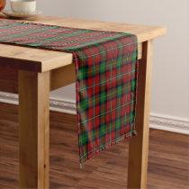 Old Scottish Clan Boyd Tartan Plaid Short Table Runner