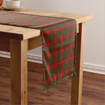 Old Scottish Clan Cameron Tartan Plaid Short Table Runner