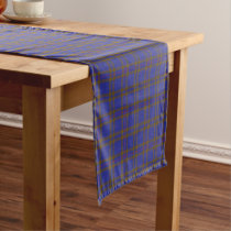 Old Scottish Clan Elliot Elliott Tartan Plaid Short Table Runner